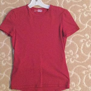Prada Dark Red Short Sleeve Top Size 40